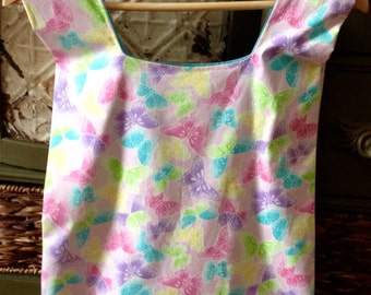 Shabby Chic-Market/Farmer/Shopping Bag With Colorful Butterflies