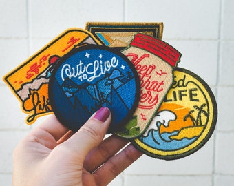 Adventure 5 Patch Variety Pack (Embroidered or Iron-On)