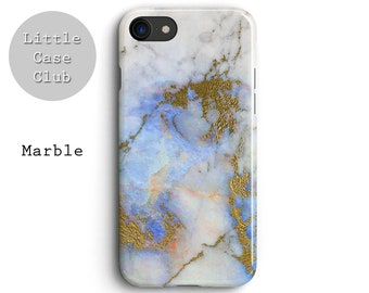 Marble gold blue iPhone 8 case, iPhone 7 Plus case, iPhone 6s case, iPhone 6 plus case, iPhone X case, cover, Pastel, Blogger, gift for her