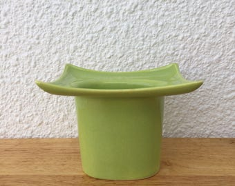 Vintage Mod Ceramic Planter Chartreuse FREE SHIPPING
