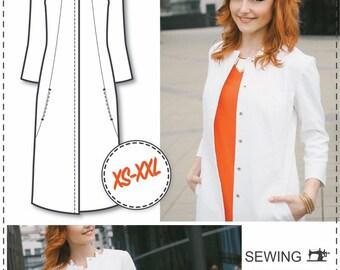 Womens Sewing Patterns - Sewing Tutorials - Coat Patterns - Jacket Coat Sewing Patterns - Clothing Patterns - Modern Sewing Patterns