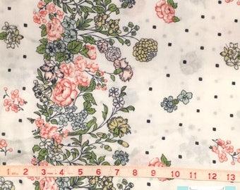 Twin Vintage Border Floral Flat Sheet