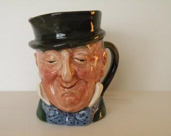 """Royal Doulton Mr. Micawber character jug Small 3 1/8"""""""