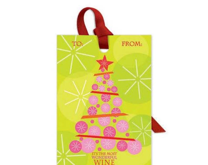 Wine Bottle Gift Tag - It's The Most Wonderful Wine Of The Year, Sold Individually