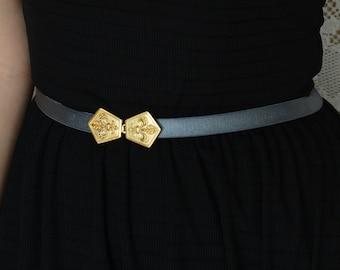 Bridesmaid Belt - Bridesmaid Accessories - Waist Belt - Gold Belt - Gray Belt - Wedding Accessories - Stretch Belt - Skinny Belt