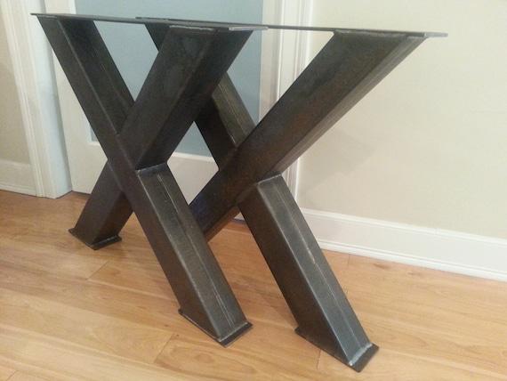 table pieds 4 pieds de table en acier oversize x de. Black Bedroom Furniture Sets. Home Design Ideas