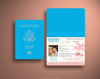 INNA Passport and Boarding Pass Destination Wedding Invitation