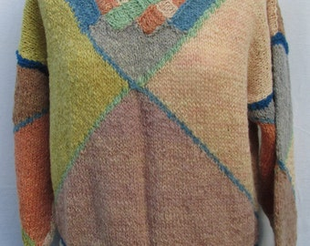 Hand knitted Twised plait sweater