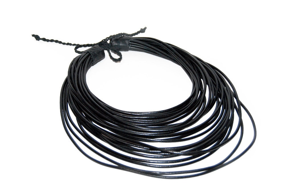 shelley leather strand silver tubes triple necklace with antiqued black at home cord b antique jewelry tube holiday and