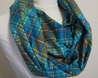 Plaid Flannel Infinity Scarf