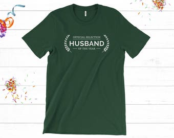 Husband Gifts, Gift for Hubby, Husband Anniversary Gift, Best Husband Shirt, Mens Clothing Unisex T-shirt, Cool Gifts Under 25