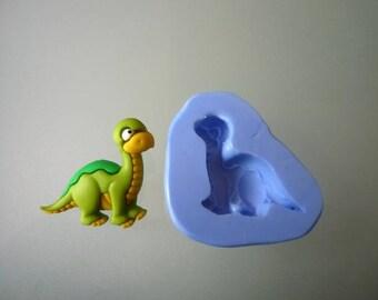 Silicone mold, green dinosaur