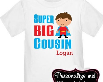 Super Hero Big Cousin Personalized T Shirt
