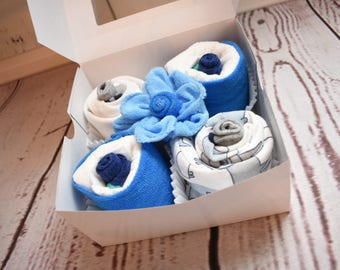 Onesie Cupcakes | New Baby Gift Set | New Parents Gift | Gender Neutral Gifts | New Baby Boy Gift | New Baby Gift | Baby Cupcakes Gift Set