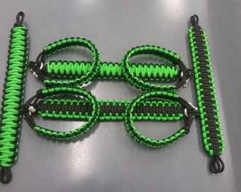 Neon green Jeep Grab handles
