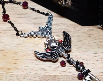 Gothic Steampunk Key Necklace