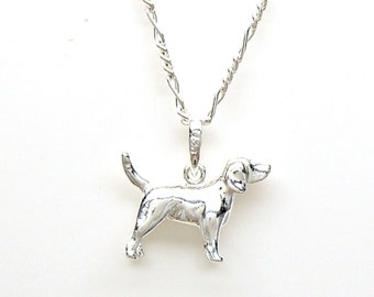 Beagle Breed Puppy Dog Sterling Silver 3 Dimensional Pet Animal Charm Pendant Customize no. 2237