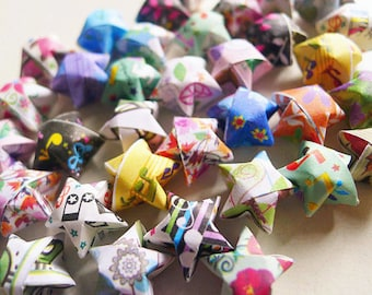 Assorted Origami Stars - Wishing Stars Confetti/Gift fillers/Home Decor