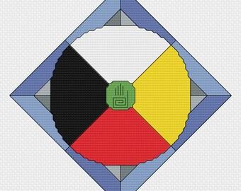 Cross Stitch Pattern - Medicine Wheel