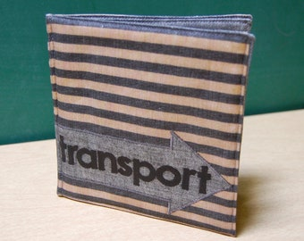 Transport Soft Book, printed on organic cotton