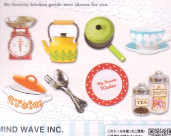 Kitchen Stickers - 56 Flake Stickers - Mind Wave Stickers - Reference F2727