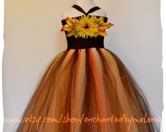 Scarecrow Autumn Harvest Tutu Dress