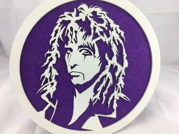 Welcome to my nightmare. Alice Cooper wall art. FREE SHIPPING Australia Wide.