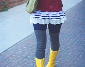 Thigh Highs Thigh High Socks Gift Idea Over the Knee Socks Cozy Cotton Socks Boot Socks Skirt Socks Women's Socks Boot Cuffs