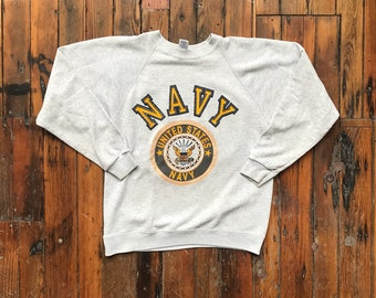 1980's Medium U.S. Navy Raglan Crew Neck by Soffe
