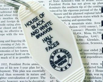 House of Black and White Key Fob