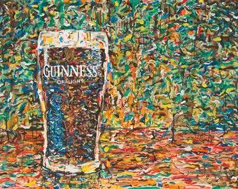 Guinness Pint - Beer - Art Print