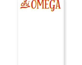 CHI OMEGA Hand-Lettered Notepad