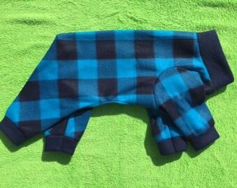 Blue Buffalo Check Dog Pajamas Jammies PJs Onesies