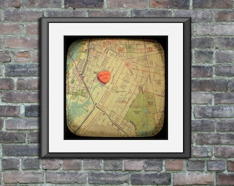 marry me south brooklyn candy heart art map ttv unframed photo print anniversary engagement wedding gift