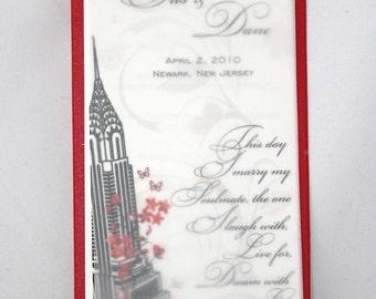 Wedding programs with vellum