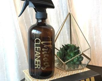 Diebe Reiniger LABEL | Fenster Reiniger, Raum sprühen Aufkleber | 16 Unzen Flasche Etiketten - junges wohnen | Ätherische Öle-Aufkleber