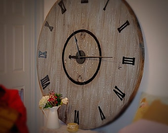 Large Wall Clock Kit with Raised Numbers