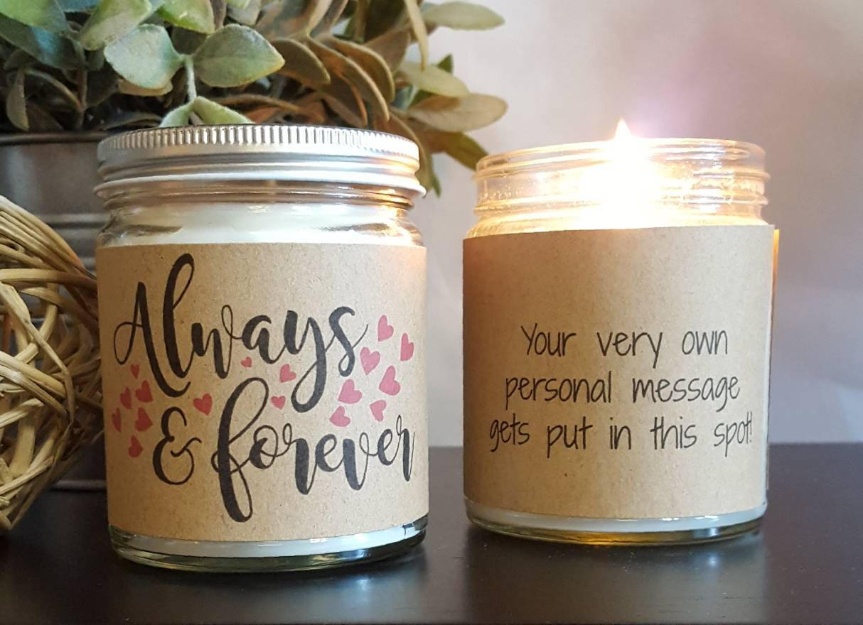 Candle Wedding Gift: Always & Forever Soy Candle Scented Soy Candle Gift Wedding