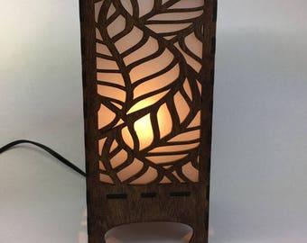 Lantern with Large Leaf Pattern, Home Decor, Lighting