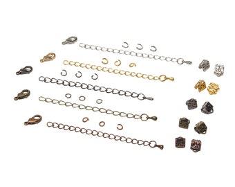 6mm ( 1/4 inch) Ribbon Choker or Ribbon Bracelet Findings Kit - Bronze, Gold, Silver, Gunmetal, Copper or Mixed - Artisan & Dots Series