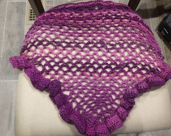 Beautiful purple/pink little girl's shawl