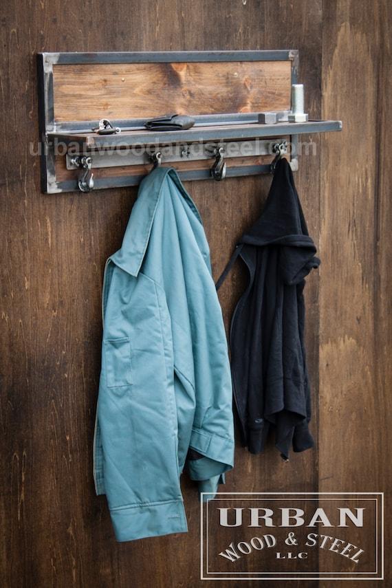 Wooster Wall Shelf Chain Hook Coat Rack - Porte manteau industriel