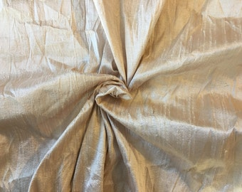 "Indian silk Dupioni Fabric.Rose Gold.100% silk. 55"" wide . SD 2."