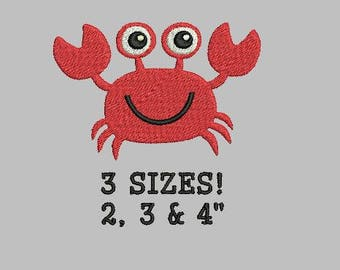 Buy 1 Get 1 Free! Crab Embroidery Design Small Crab Mini Crab Nautical Embroidery Design Beach Embroidery Design  Fish Embroidery Design