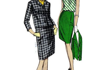 Vogue 6903 Sewing Pattern Women's Hat Dress Jacket Vintage Retro Jackie O style 1960s Fashion