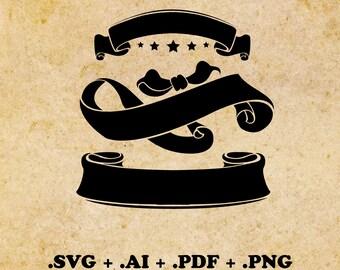 Banner svg, ai, pdf, png Banners Ribbons SVG Banner Bundle Svg Banner Digital Cut File Instant Download Cricut file Cut file for Cricut