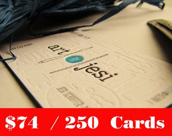 250 pcs. Custom Letterpress Business Cards