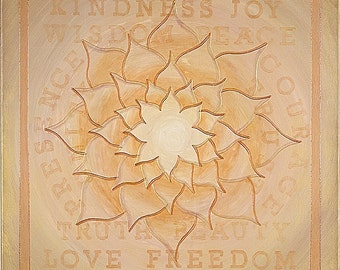 Truth Beauty Love Freedom Mandala-  archival print on photo paper