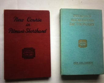 Vintage Pitman Shorthand and Dictionary of Shorthand Books (2 Books)