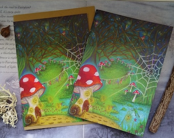 Fairy Notebook and Art Card Set ~ Wash Day!